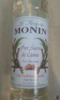 Monin Pur Sucre de Canne (Pure Sugar Cane) Syrup 1l