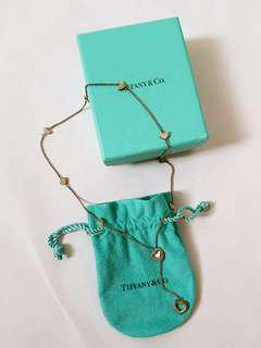 Authentic Tiffany & Co Steerling Silver Heart Link Lariat Necklace