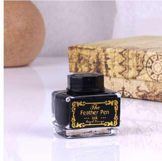 [U.P.S$15] The Feather Pen Ink Angel Design (For Any Dip Pen) Black 15ml