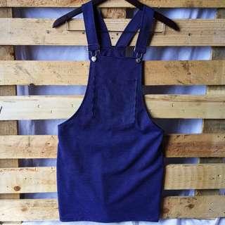 Korean Navy Blue Jumper Dress