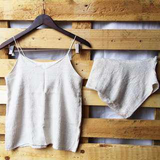 White Shorts and Top Terno (co-ordinates)