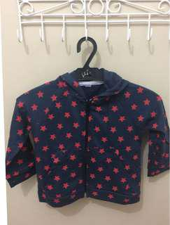 On hand, jacket with hoodie (stars)