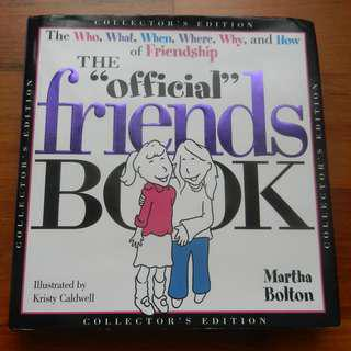 "'The ""Official"" Friends Book' (Collector's Edition) by Martha Bolton / 'Gift from the Sea' (50th Anniversary Edition) by Anne Morrow Lindbergh"