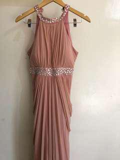 Pink Viola Long Gown