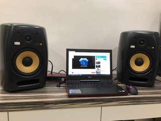 KRK VXT 8 Studio Monitors