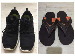 bundle nike roshe and rider thong sandals size11
