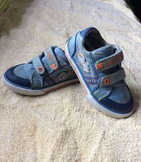 8/10 Pablosky blue with orange baby / toddler / kids boy / girl / gals sneakers sports track shoes size 26 18cm