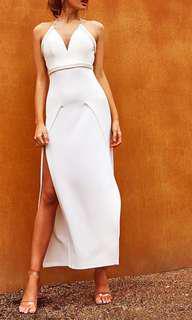 Popcherry Size XL(14) White Grecian Maxi Dress