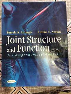 Joint Structure and Function, 5th ed. Cynthia C. Norkin