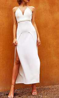 Popcherry Size L(12) White Grecian Maxi Dress