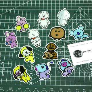 BTS BT21 Characters Acrylic Badges