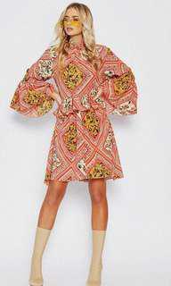 Popcherry Size S(8) Pink Pattern Shift Dress