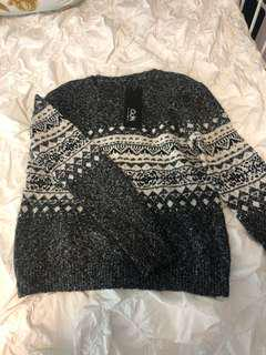Holiday grey vintage knit sweater