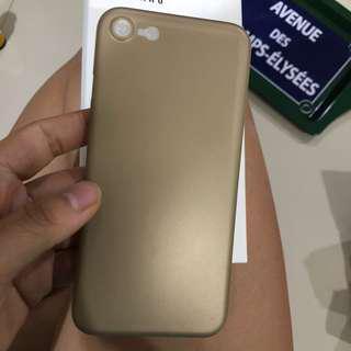 Casing Cover iphone 7/8 Asenaru Gold slim case