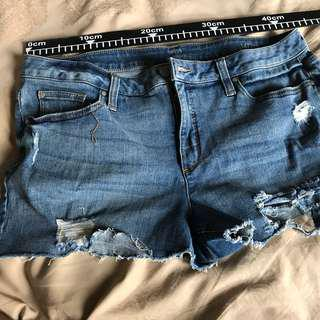 ripped jeans shorts xl