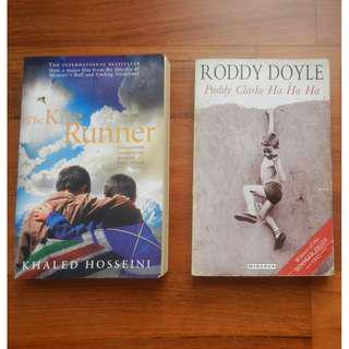 'The Kite Runner' by Khaled Hosseini / 'Paddy Clarke Ha Ha Ha' by Roddy Doyle