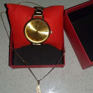 "Watch with ""A"" necklace"