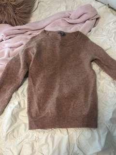 Uniqlo pink sweater knit
