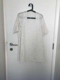 Closet detox: white lace dress