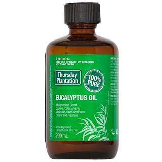 🚚 [200ml][FREE MAIL]Thursday Plantation Eucalyptus Oil