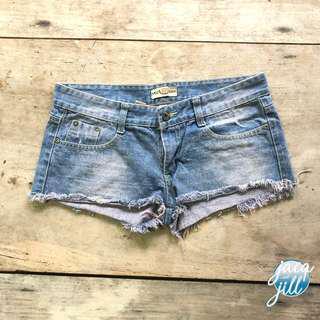 Denim beach shorts