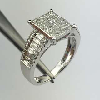 18K白金戒指 1卡14份鑽石 18K Withe gold Ring 1.14ct Diamond