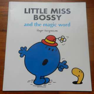 'Little Miss Bossy and the Magic Word' by Roger Hargreaves