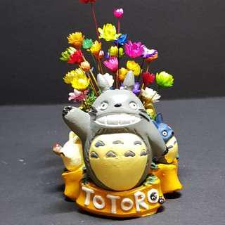 Frozen Flowers Totoro Pot Terrarium (1)