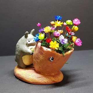 Frozen Flowers Totoro Pot Terrarium (2)