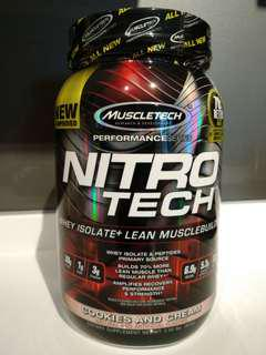 MuscleTech NitroTech...Cookie & Cream Favor