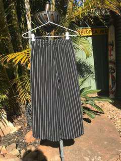 Cullote style pin stripe pants