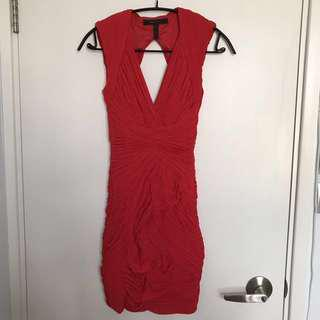 BCBG Red Bodycon dress
