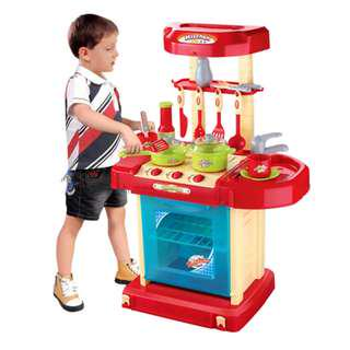 🚚 Portable Kitchen Playset