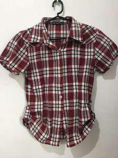 Rrj checkered blouse