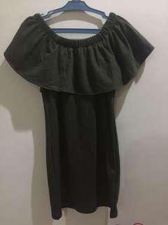 Olive Green Off Shoulder Bodycon Dress