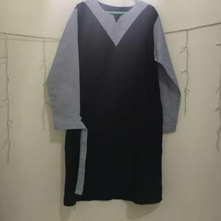 NEW DRESS KOREA BIRU NAVY