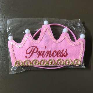 寵愛寶寶生日派對🎉公主👸皇冠👑 發光帽 / 派對裝飾用餐桌布(紫色)