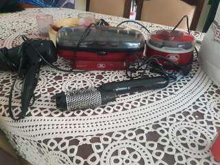 Hair curlers  rollers and other bits