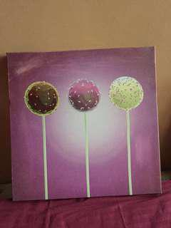 Cute Purple Wall Art (Free Delivery within Metro Manila)