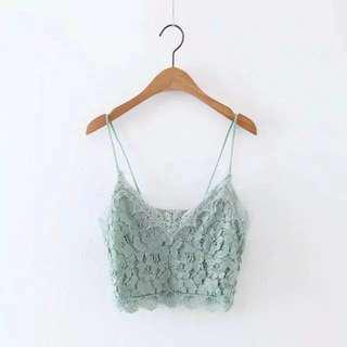 Mint Lace Bralette