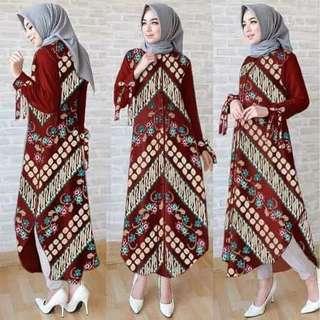 Long tunik batik batina katun rayon