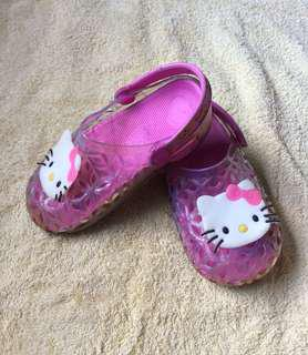8/10 Hello Kitty Pink jelly baby / toddler / kids boy / girl / gals jelly sandals shoes 15.5cm