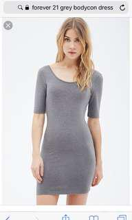 Forever 21 Lowscoop Back BodyCon Dress
