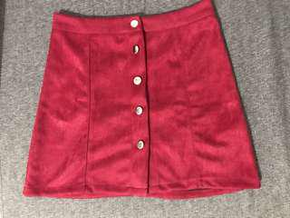rok a line maroon skirt