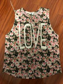 Valley Girl Floral Tank Top