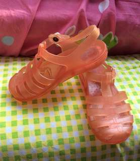 Almost new Orange Italy jelly baby / toddler / kids boy / girl / gals sandals shoes size 5/6, 24/25 15.5cm
