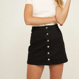 Pare Basic Button Up Skirt