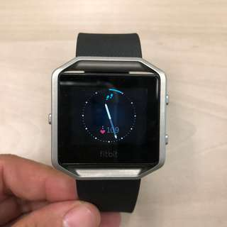 Fitbit Blaze 智能手錶 心跳計 計步器 黑銀色 運動型手錶 行貨 Heart Rate Foot Step meter Sport watch