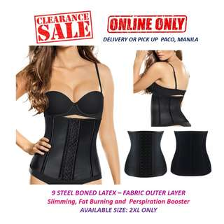 b3d9edff5c 2XL - Latex 9 Boned Waist Trainer with Outer Fabric Layer