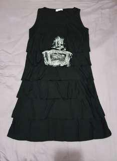 Repriced!!! Ruffled Black Dress